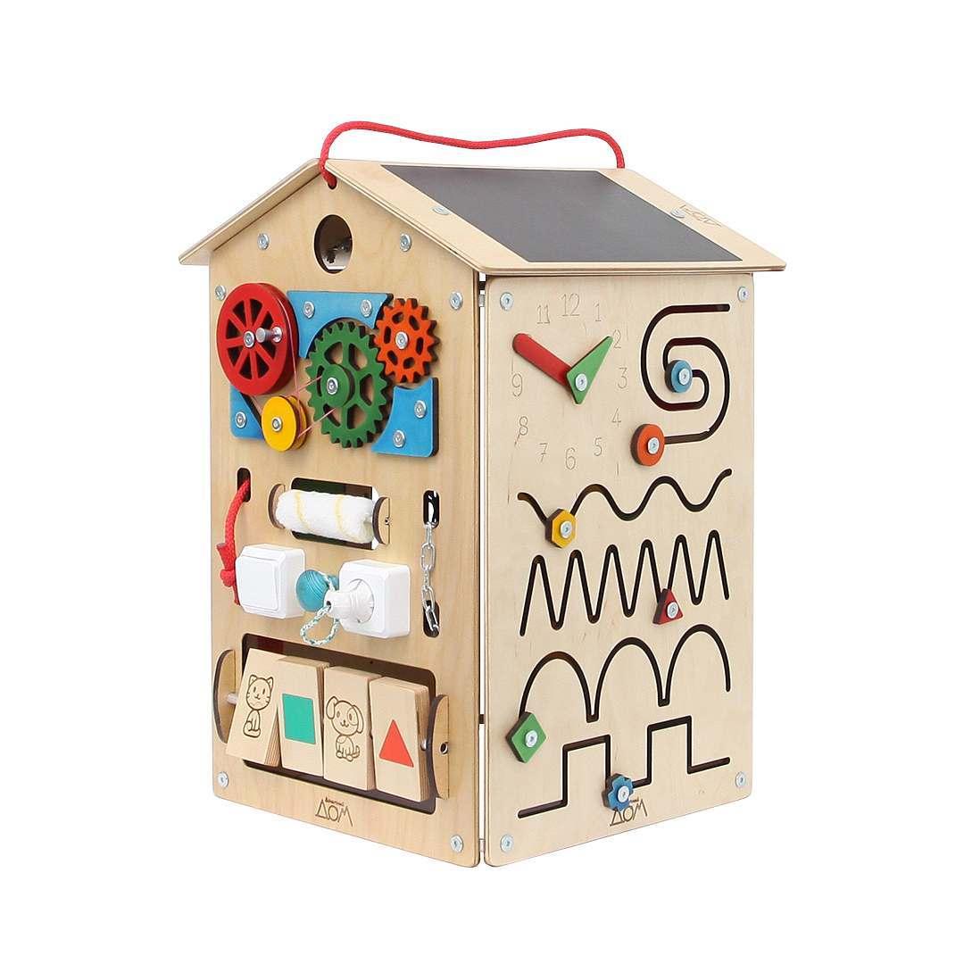 бизиборд домик купить в москве деревянный бизиборд домик