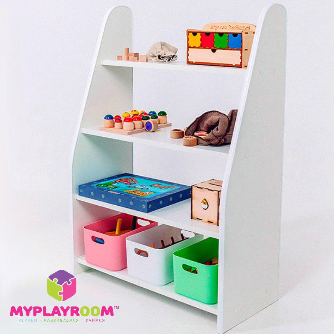 Компактный стеллаж для игрушек в детскую