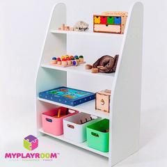 Детский стеллаж для пособий и игрушек в духе Монтессори