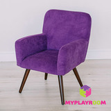 Детское мягкое кресло в стиле 60-х, ультрафиолетовый 1