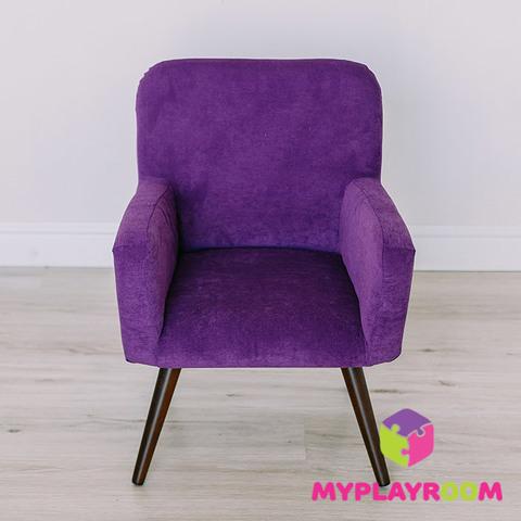 Детское стильное кресло в стиле 60-х, ультрафиолетовый 3