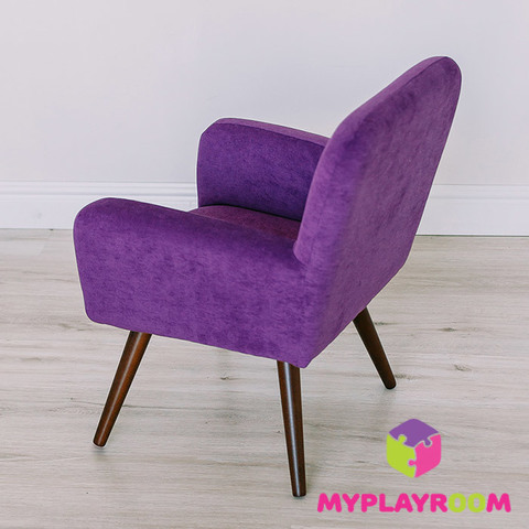 Детское стильное кресло в стиле 60-х, ультрафиолетовый 4