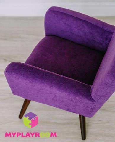Детское мягкое кресло в стиле 60-х, ультрафиолетовый 5
