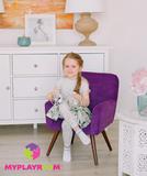 Детское стильное кресло в стиле 60-х, ультрафиолетовый 2