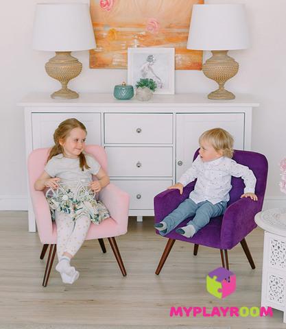 Детское стильное кресло в стиле 60-х, ультрафиолетовый 6
