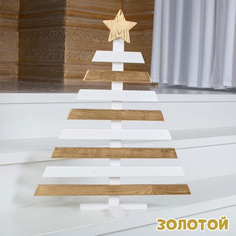 Деревянная новогодняя АДВЕНТ ЁЛОЧКА (3 расцветки) 5