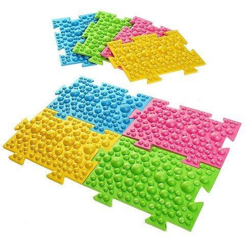"""Детский массажный орто коврик, 8 модулей """"Пузырики"""""""
