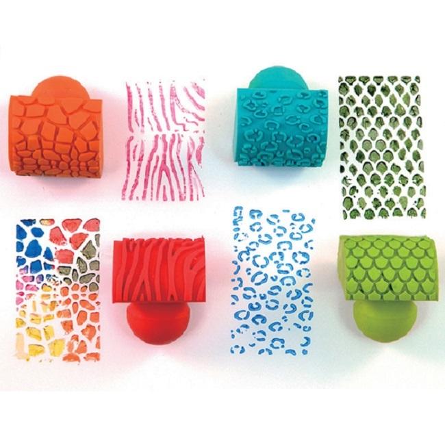 Резиновые штампы для краски, имитирующие шкуру животных