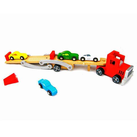 Автовоз деревянный 6