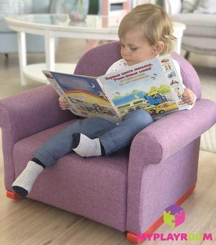 Детское мягкое кресло-качалка