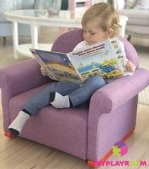 Детское мягкое кресло-качалка (мини-диванчик), Лавандовое