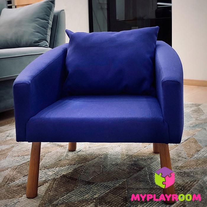 Детское мягкое кресло, фиолетовое
