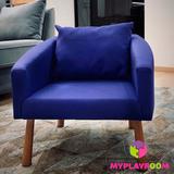 Детское мягкое кресло, синее 4
