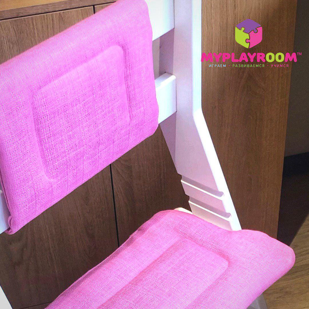 Комплект чехлов для растущего стула к домашней песочнице MYPLAYROOM, цвет чайная роза