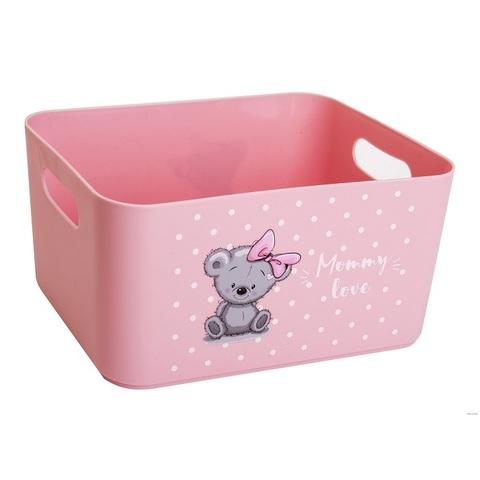 """Контейнер для детских игрушек """"Mommy love"""", нежно-розовый"""