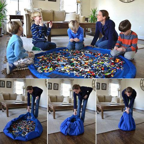 Большая сумка-коврик для игрушек, 1.5 метра 7