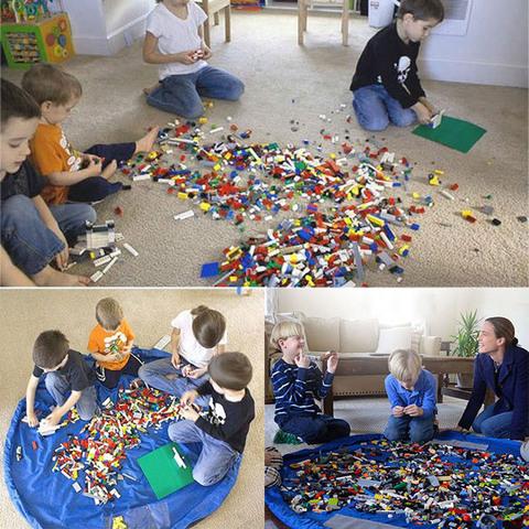 Большая сумка-коврик для LEGO и игрушек, 1.5 метра 6