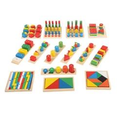Большой набор Монтессори-материалов, 14 предметов