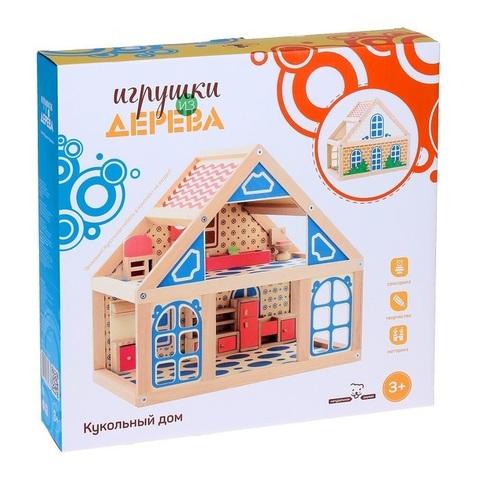 Расписной кукольный домик, 2 этажа 3