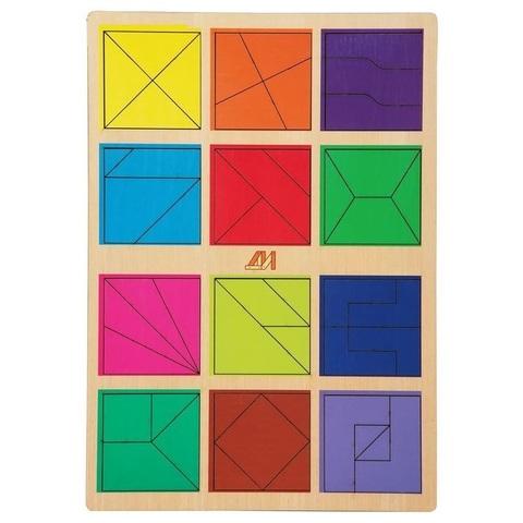 """Головоломка """"Сложи квадрат, 2 уровень"""""""