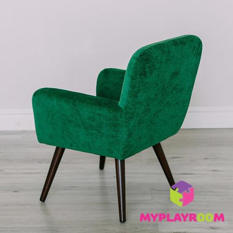 Детское мягкое кресло в стиле 60-х, изумрудный 6