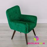 Детское мягкое кресло в стиле 60-х, изумрудный 7