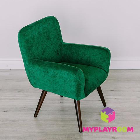 Детское стильное кресло в стиле 60-х, изумрудный 7