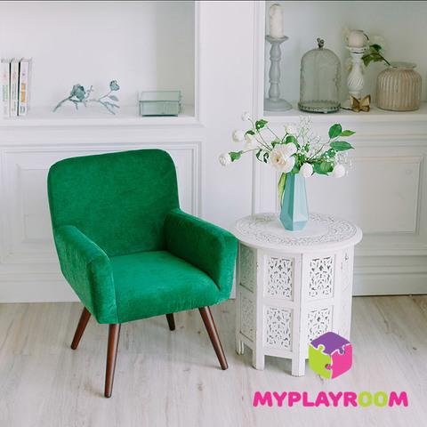 Детское стильное кресло в стиле 60-х, изумрудный 5