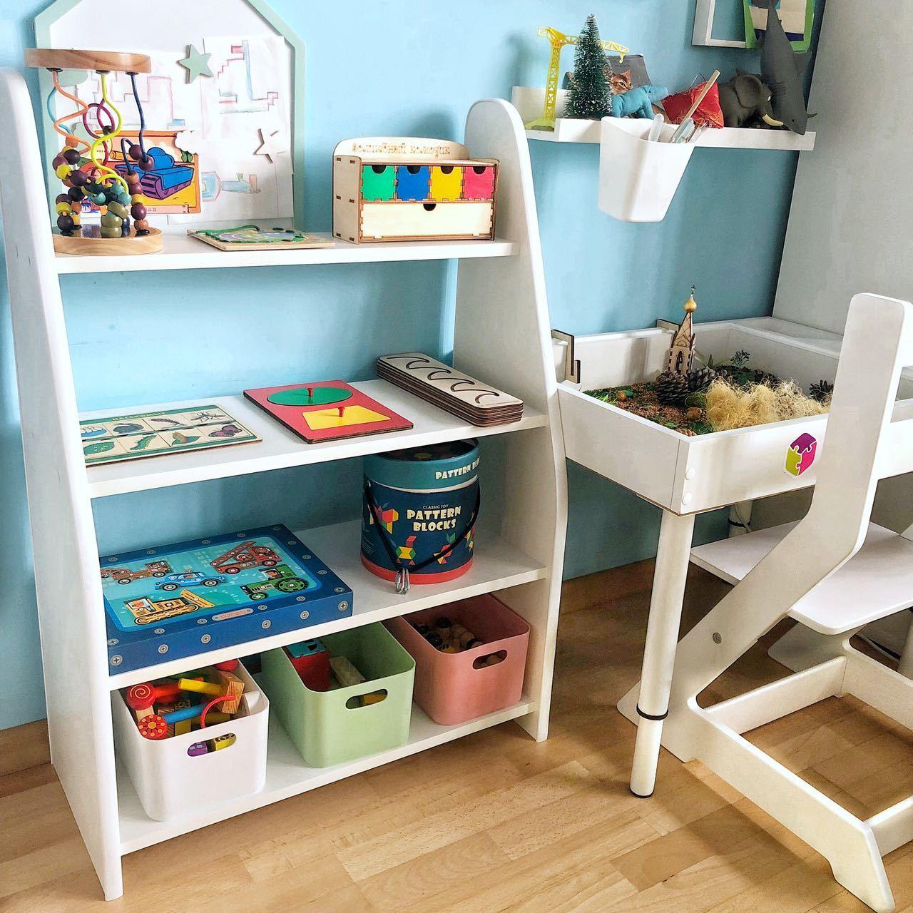 стеллаж для игрушек в детскую комнату купить в москве