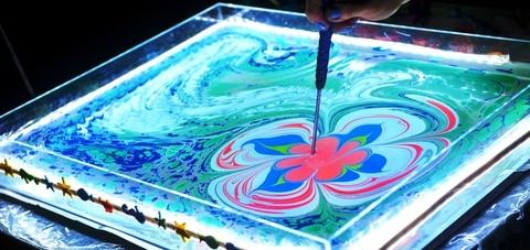 Краска для Эбру зеленая 40 мл 2