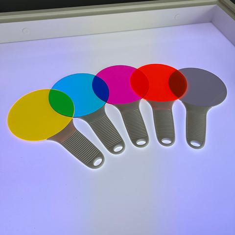 Набор больших светофильтров с ручкой, 5 шт 2