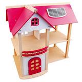 Деревянный кукольный домик с мебелью 2