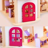 Деревянный кукольный домик с мебелью 8