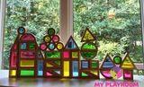 Большой конструктор Радужные блоки (Rainbow blocks), 40 деталей 7