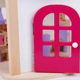 Деревянный кукольный домик с мебелью 6