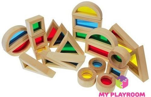 Большой конструктор Радужные блоки (Rainbow blocks), 40 деталей 6