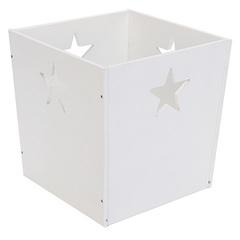Белый деревянный ящик для игрушек