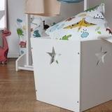 Белый деревянный ящик для игрушек 2