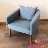 Детское мягкое кресло, голубое 1