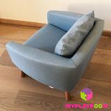 Детское мягкое кресло, голубое 4