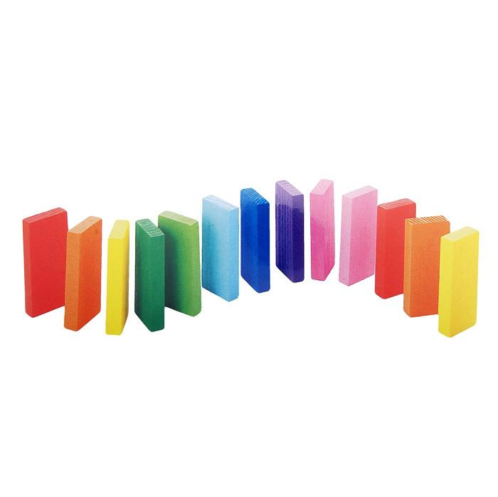 Деревянные цветные плашки, 28 элементов