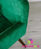 Детское мягкое кресло в стиле 60-х, изумрудный 4