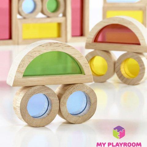 Большой конструктор Радужные блоки (Rainbow blocks), 40 деталей 5