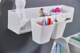 Карандашница навесная для полочки, стола-песочницы и растущего стульчика, белая 2