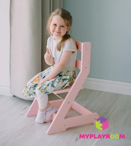Растущий стульчик MYPLAYROOM™ к песочнице, розовый 2