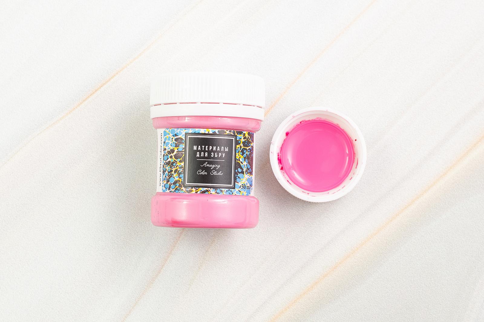 Краска для Эбру розовая
