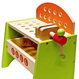 Деревянный верстак с тисками и набором инструментов 10