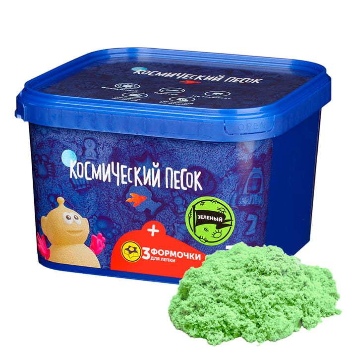 Космический песок зеленого цвета