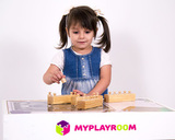 Блоки с цилиндрами для малышей (материал Монтессори) 4