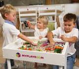 Световая песочница для LEGO от MYPLAYROOM™ с короткой столешницей 7в1 (открытый пенал) 4